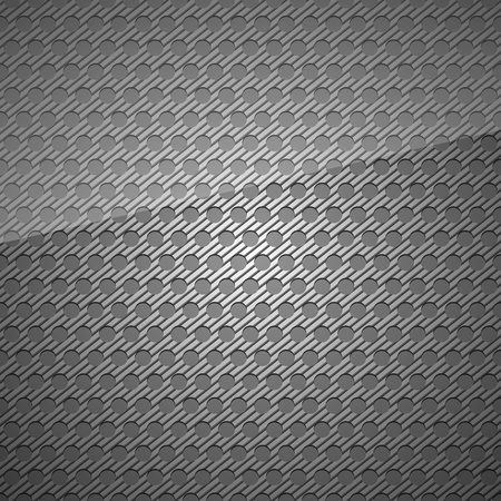 Metal surface, dark gray background perforated sheet Vector