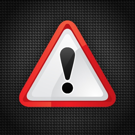 Hazard warning attention symbol on a metal surface Stock Vector - 12178543