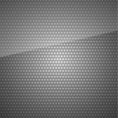 Seamless metal surface, Dark gray background perforated sheet Vector