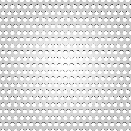 Seamless metal surface, gray background perforated texture Vector