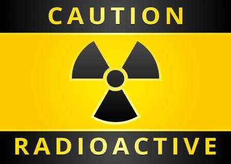 Signe étiquette d'avertissement. Radiation les symboles de danger (25). Jpg