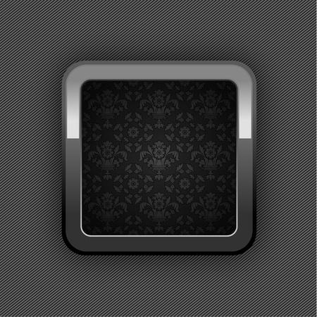 dark gray line: Chrome bot�n, bot�n de adornos florales. 10eps (25). Jpg