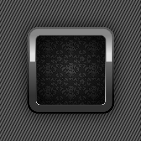 Chrome web button, button floral ornaments. 10eps(25).jpg Stock Vector - 12178555