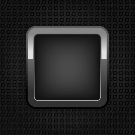 lamiera metallica: Chrome Web pulsante, struttura in plastica, pulsante vuoto. Vettoriali