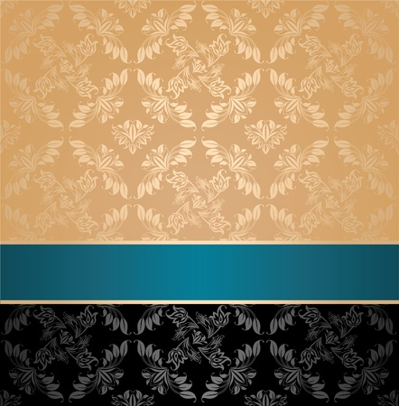 Seamless pattern, floral decorative background Vector