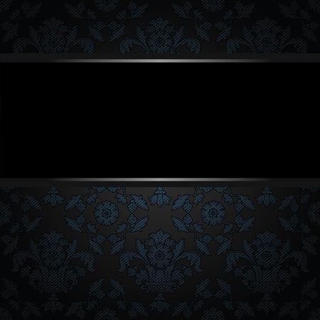 Background place text, blue ornamental fabric texture. Place your text here Vector