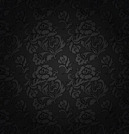 Corduroy donkergrijze achtergrond, sierbloemen textuur stof