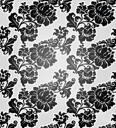 Lace background, ornamental flowers wallpaper Vector
