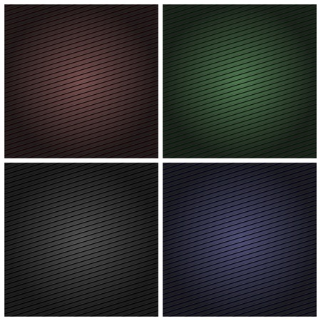 Set corduroy color background, fabric texture Vector