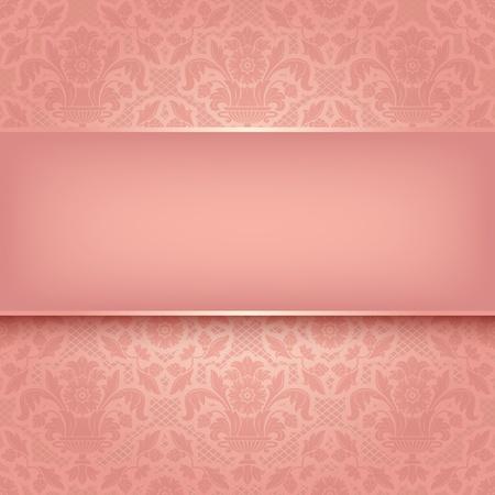veters: Achtergrond roze sier stof textuur vector eps 10 Stock Illustratie