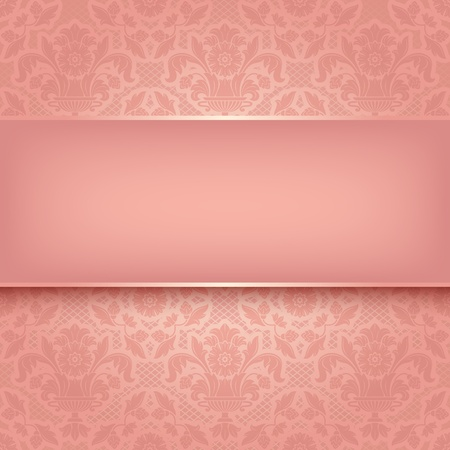 Background pink ornamental fabric texture  Vector eps 10 Vector