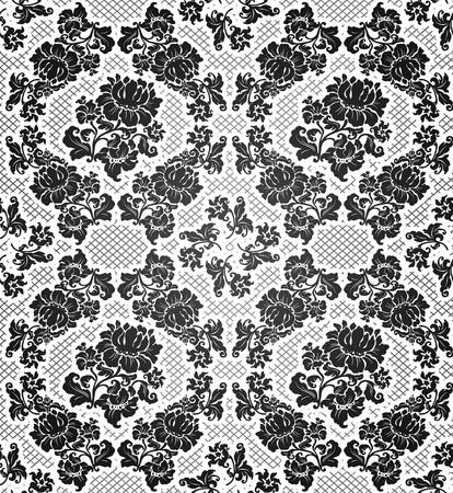Lace background, ornamental flowers Vector