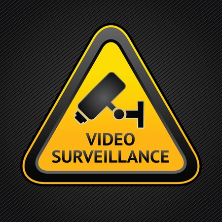 CCTV triangle symbols, web button Vector