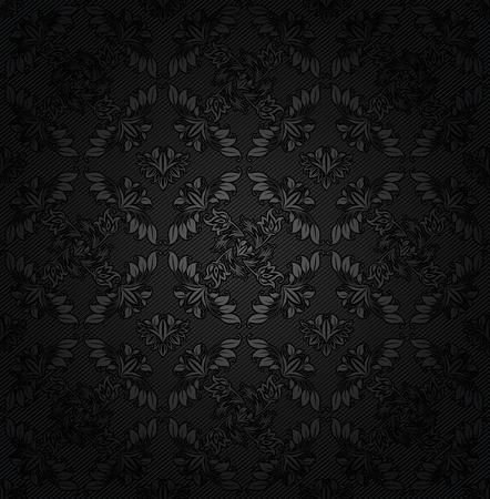Corduroy texture dark background, ornamental fabric gray flowers Stock Vector - 12497412