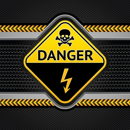dangerous construction: Abstract background industrial template, under construction Illustration