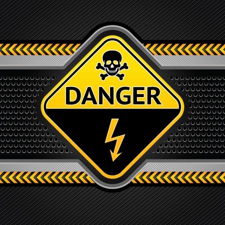 hazardous: Sfondo astratto modello industriale, in fase di costruzione