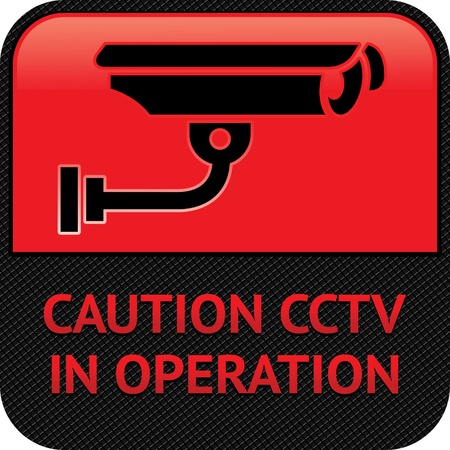 surveillance symbol: CCTV pictogram, video surveillance, symbol security camera