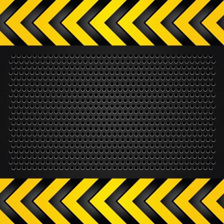 industrial danger: Met�lico plantilla de fondo, chapa perforada