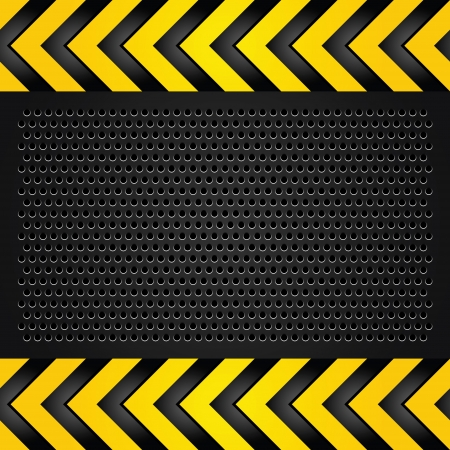 dangerous construction: Metallic background template, perforated sheet