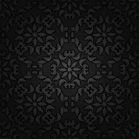 Corduroy texture dark background, ornamental fabric Vector