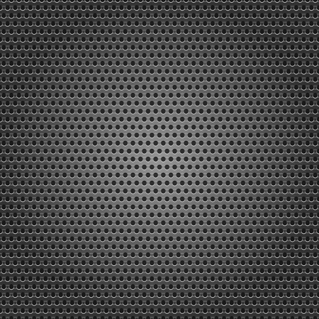 Seamless chrome metal surface, background perforated sheet Vector
