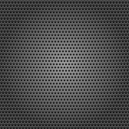 carbone: Seamless surface en m�tal chrom�, t�le perfor�e de fond