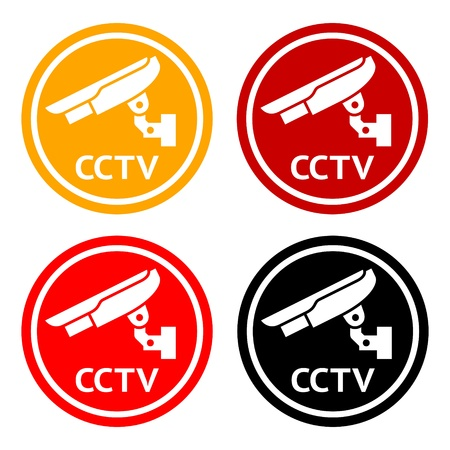 surveillance symbol: CCTV pictogram, set symbol security camera