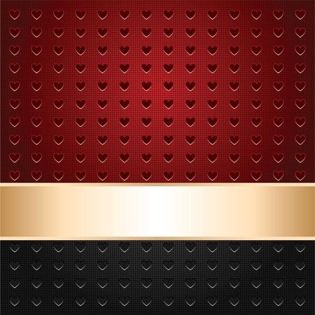 ruban or: Contexte perfor�e dans le c?ur de forme, la surface de mod�le, le ruban d'or