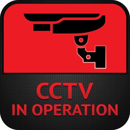 CCTV pictogram, symbol security camera Stock Vector - 12497613