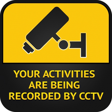 surveillance symbol: CCTV pictogram, video surveillance sign