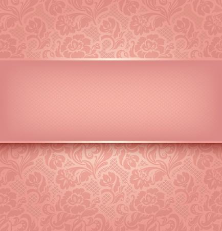 lace: Encaje de fondo, color de rosa de tela ornamentales EPS Vector textura 10