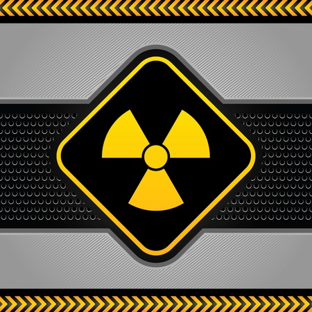 Radioactive symbol, abstract background industrial template Vector