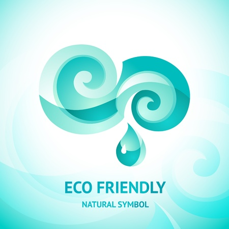 sea mark: Turquoise water symbol