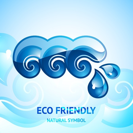 Water natural blue sign Vector