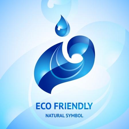 Water natural blue symbol Vector