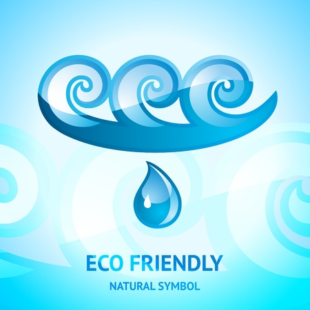 Water natural symbol Vector