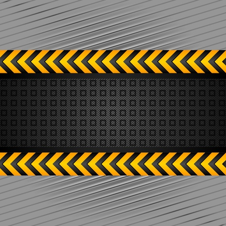 hazard tape: Background template, under construction Illustration