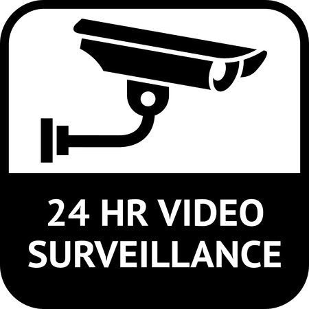 video surveillance: CCTV symbol, video surveillance