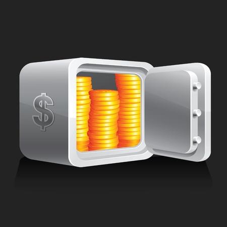 banker: Safe and money Illustration