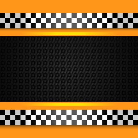 Taxi cab background close up Vector