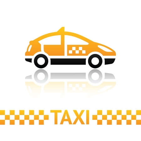 yellow cab: Taxi cab symbol Illustration