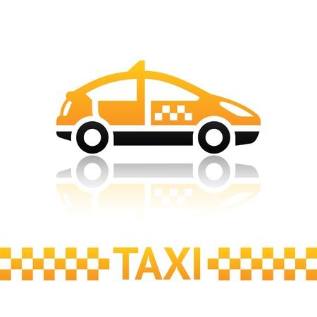 taxi: Taxi símbolo de la cabina Vectores
