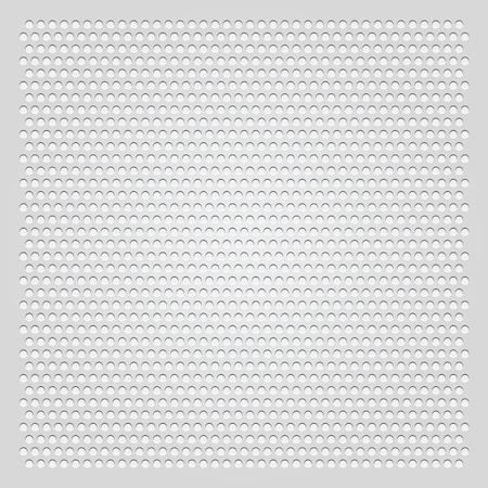 carbon steel: Background gray perforated sheet Illustration