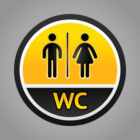 bathroom sign: Restroom symbols