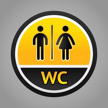 unisex: S�mbolos de los ba�os Vectores