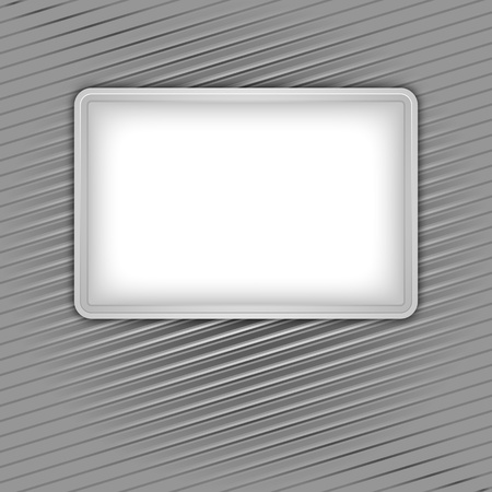 White blank shape on corduroy background Vector