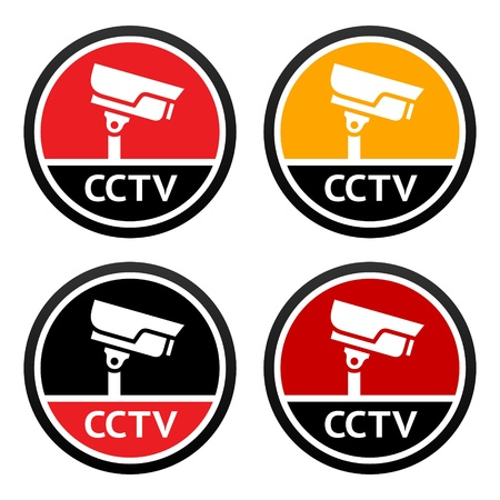 CCTV pictogram, set sign security camera Vector
