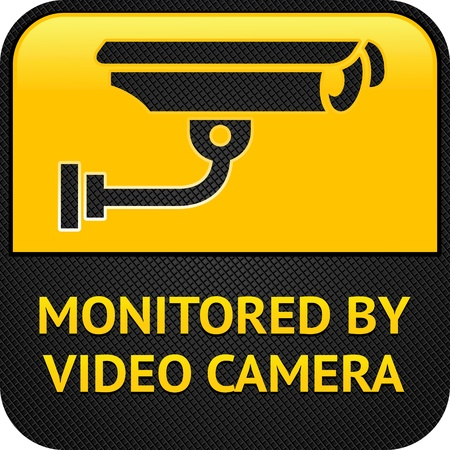CCTV pictogram, web button Vector