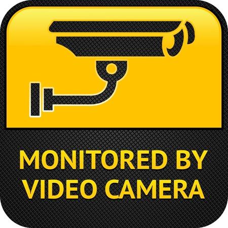 Pictogramme CCTV, bouton web