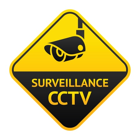 video�berwachung: CCTV-Zeichen, Video�berwachung Symbol Illustration